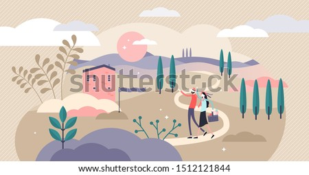 countryside vector illustration