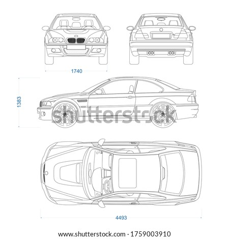 coupe sport car vector template