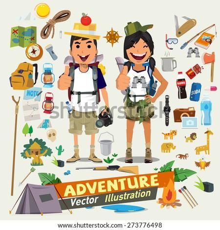 couple  adventure character