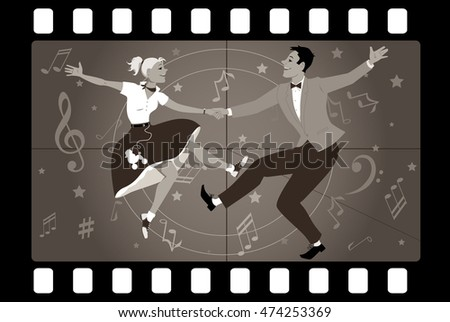 couple dancing 1950s style rock