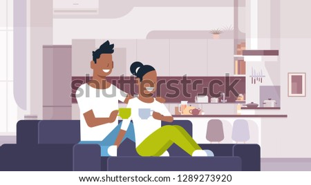 couple drinking tea coffee