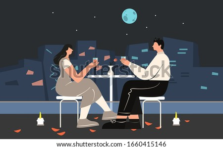 couple enjoying romantic