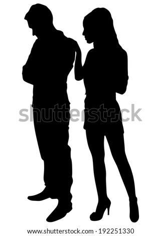 couple fight  vector