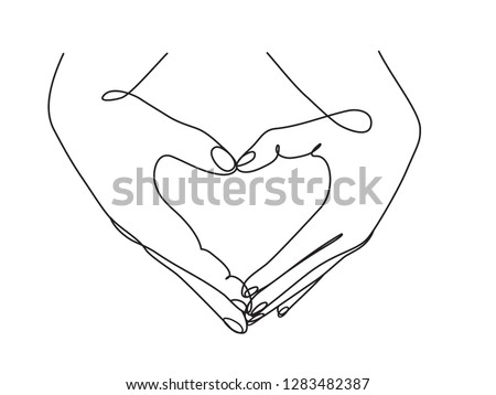couple hands showing love sign