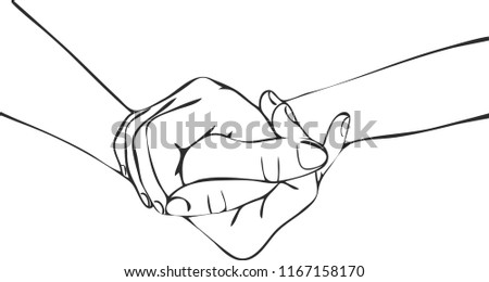 Couple holding hands concept.