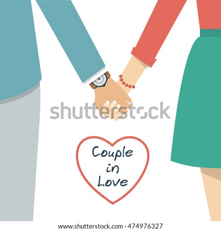 couple holding hands female