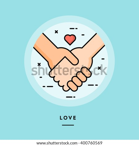 couple holding hands  flat