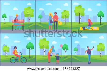 couple in city park with trees