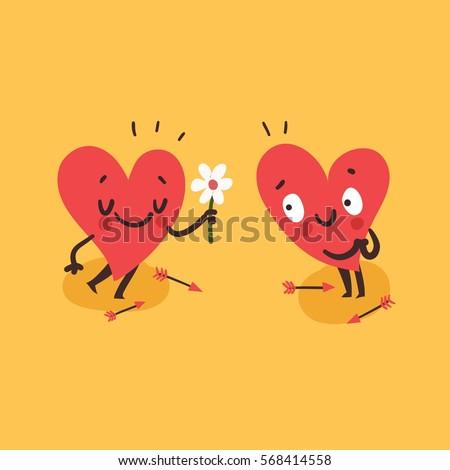 couple in love concept cute