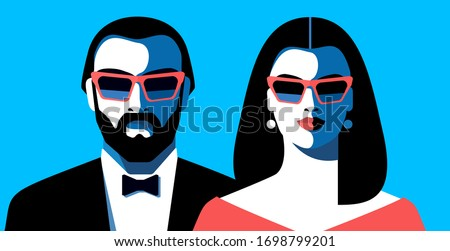 couple in love  front view  in