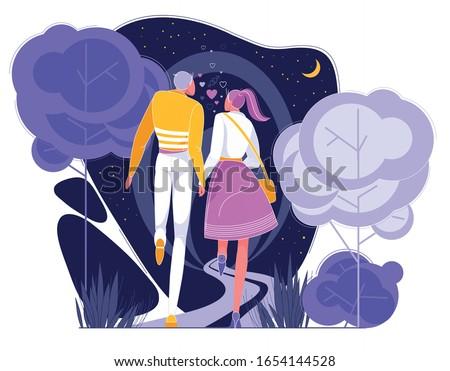 couple in love having romantic