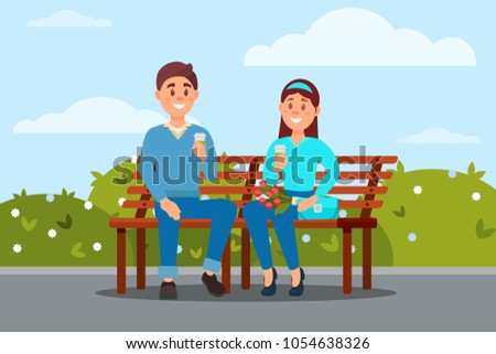 couple in love sitting together