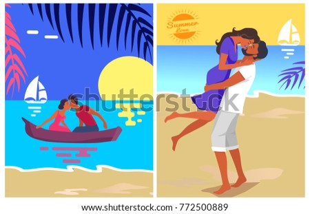 couple in love swims on purple