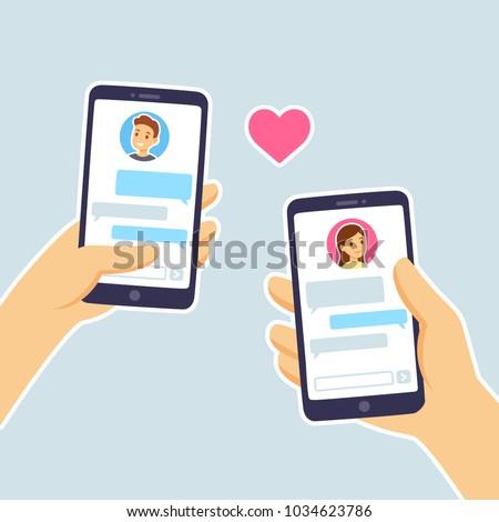 couple in love texting male