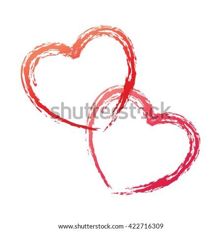 couple love heart shape logo