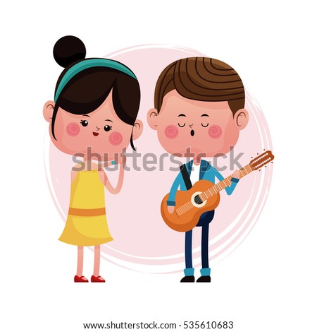 couple loving serenading with