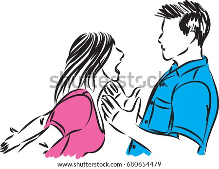 couple man and woman fighting