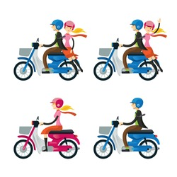 Couple, Man, Woman, Riding Motorcycle, Trip & Travel, Relax