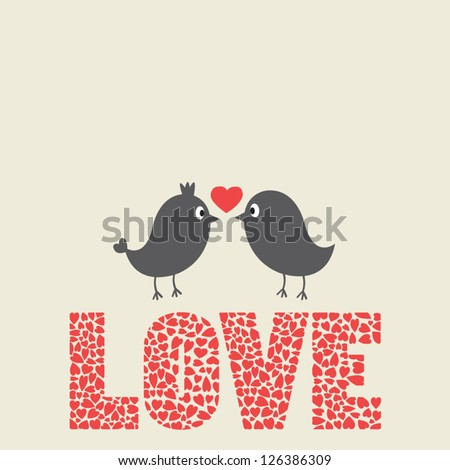 couple of birds in love and