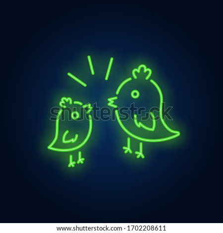 couple of birds neon sign two