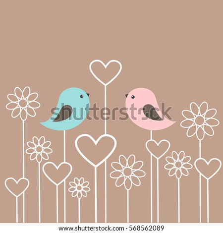 couple of cute birds with