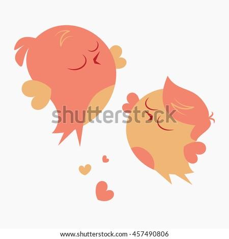 couple of funny cartoon birds