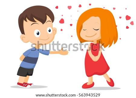 Couple of kids falling in love