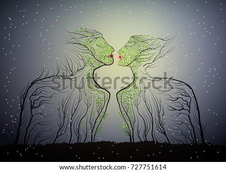 couple of people look like tree