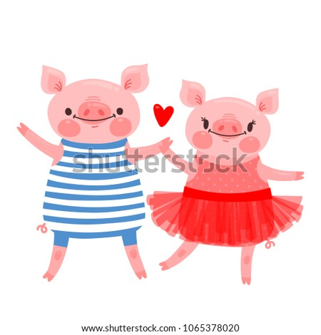 couple of sweet piglets