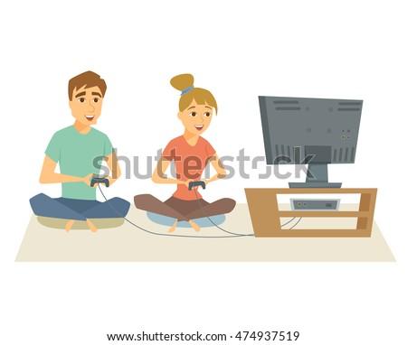 couple playing video games fun