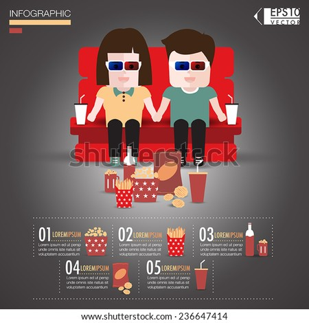 couple see a movie infographics