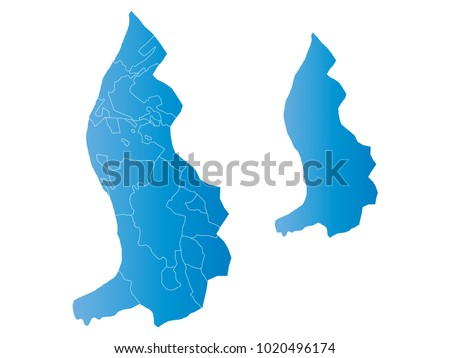 Couple Set Map,gradient blue Map of Liechtenstein,Vector EPS10