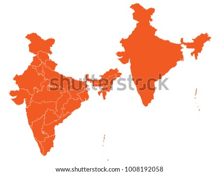 Map of india in textured old background vector design illustrati couple set maporange map of indiavector eps10 gumiabroncs Images