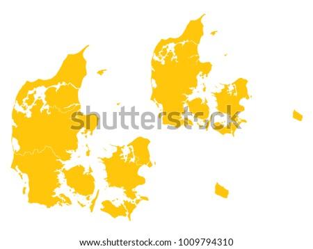 couple set map yellow map of denmark vector eps10 ez canvas
