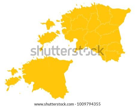 couple set map yellow map of estonia vector eps10 ez canvas