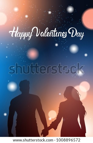 couple silhouette holding hands