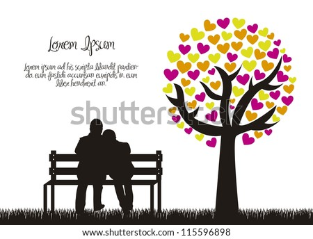 couple silhouette with love