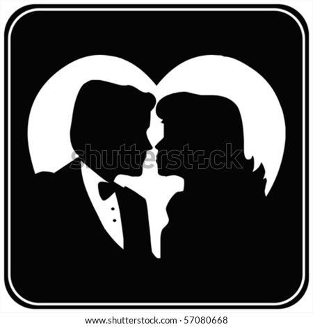 Couple silhouettes ,  vector