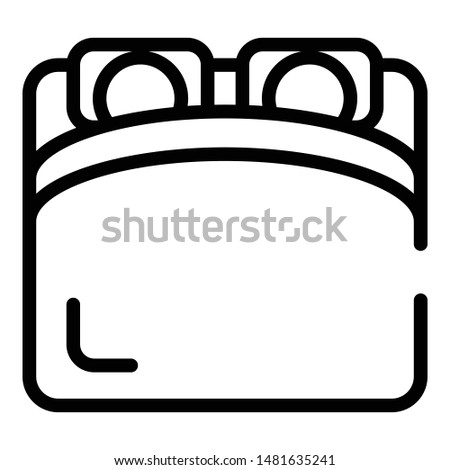 Couple sleeping on bed icon. Outline couple sleeping on bed vector icon for web design isolated on white background