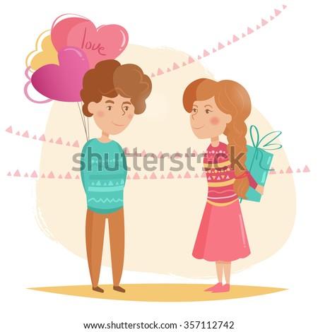 couple valentine's day vector