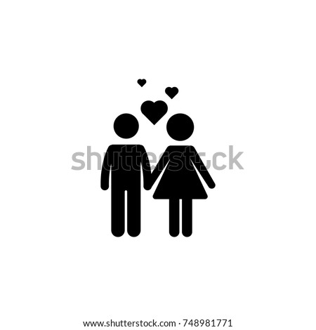 couple with love icon vector