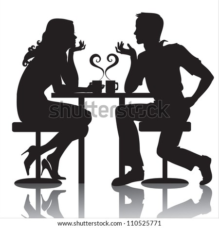 couples in cafe