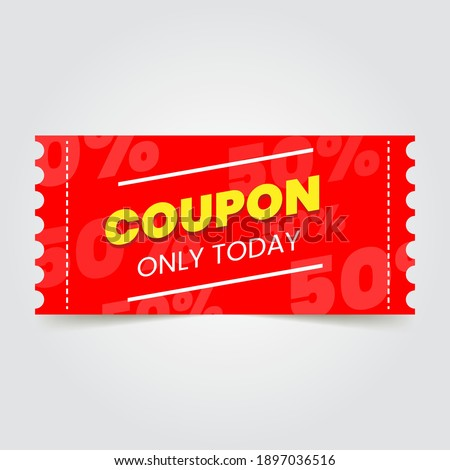 Coupon promotion sale for website, internet ads, social media or coupon. Big sale and super sale coupon discount. Eps 10 vector illustration.
