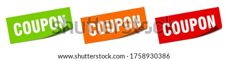 coupon sticker. coupon square isolated sign. coupon label