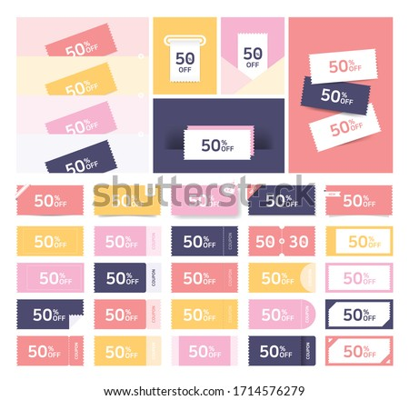 Coupon Ticket Card. Highly versatile design for online and offline tickets.