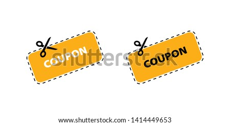 Coupon vector icon. Vector Discount Coupons icons. Coupon icons in flat design. Eps10