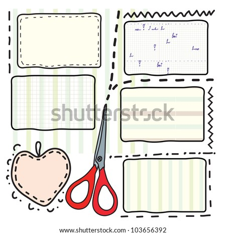 Coupons and scissors for sale and sewing