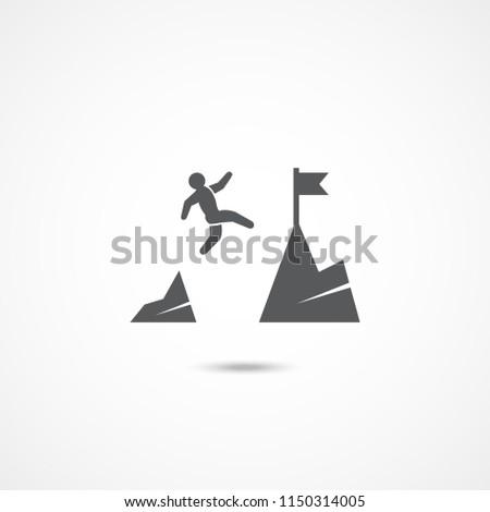 Courage icon on white background