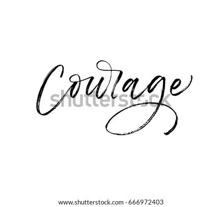 courage postcard ink