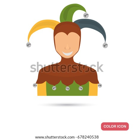 court jester color flat icon